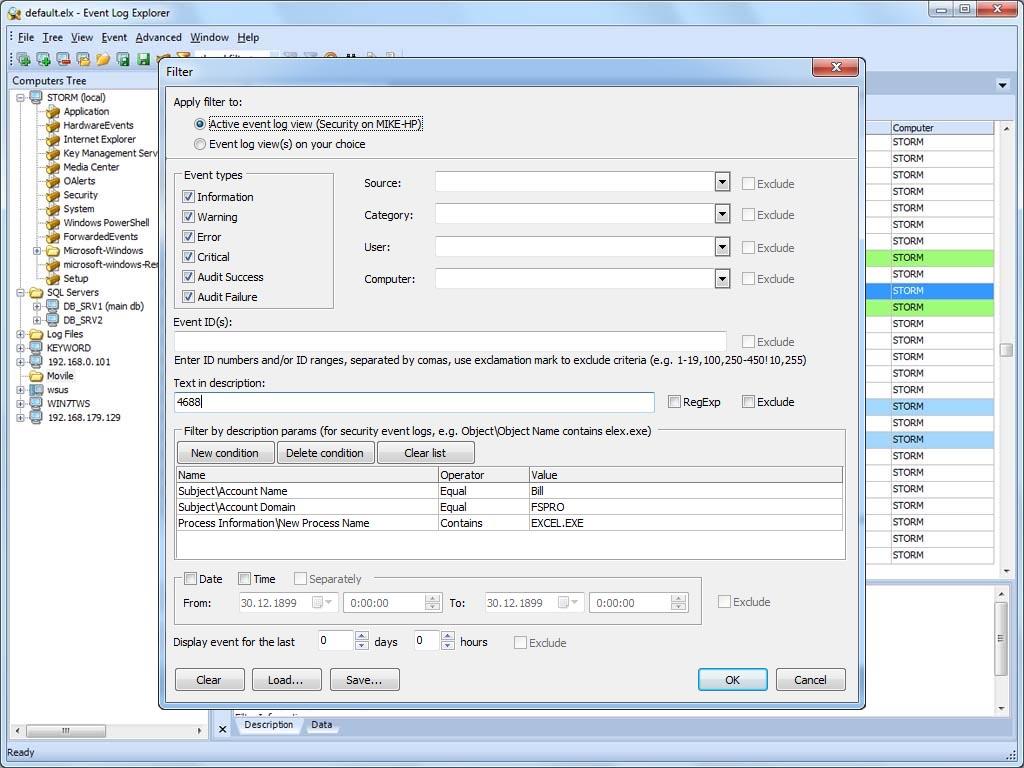 محلل نظام الويندوس برنامج Event Log Explorer 4.0 beta 1